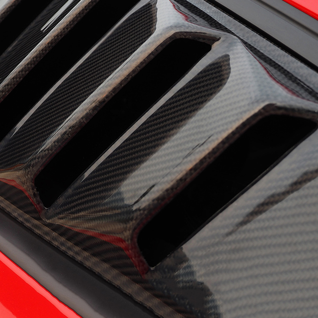 QHCP 1Pair Side Window Carbon Fiber Louver Left & Right Side Window Louver Scoop Cover for Ford Mustang 2015-2018 Free Shipping
