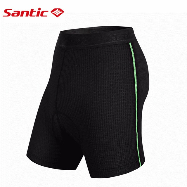 Santic Cycling Briefs Mens Knickers Underwear Coolmax Padded Gel Bike Base Cycling Short Shorts ciclismo Two Style MC06001
