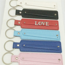 Sales DIY 8&10MM Keychains Personalized Key Rings Fit Slide Letter&Numbers Charms KC02(China)