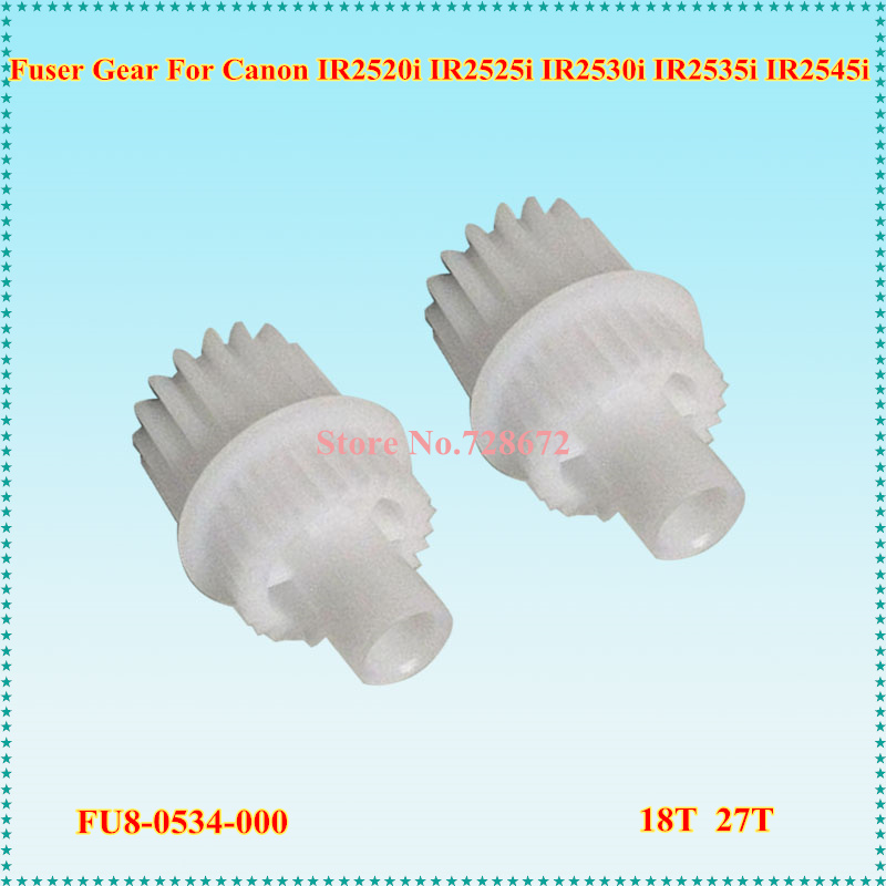 30pcs/lot FU8 0534 000 18T 27T Compatible Fuser Drive Gear For Canon IR2535 2535I IR2545 2545I IR 2535 2545 FU8 0534 Printer-in Printer Parts from Computer & Office    1