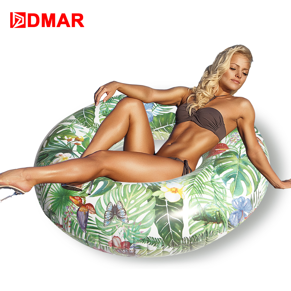 DMAR 103cm Forest Inflatable Swimming Ring Giant Pool Float Water Toys Inflatable Mattress For Kids Adults Beach Sea Party Donut