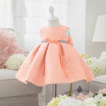 Beautiful Baby Girl Dresses with Cap Super Back Bow 1