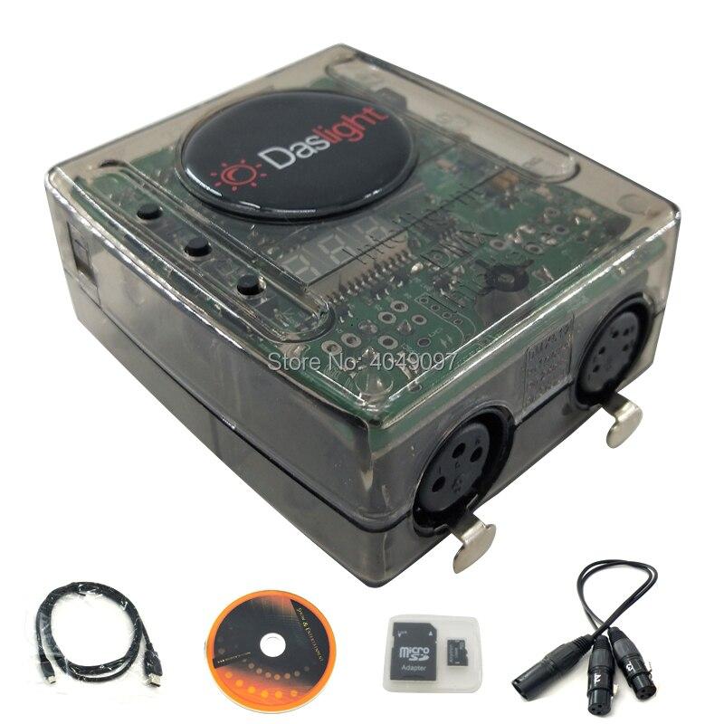 Console d'éclairage mobile de contrôleur de lumière d'étape de logiciel de Daslight DVC4 DMX pour l'interface d'éclairage d'usb de lumière d'étape de Disco DJ