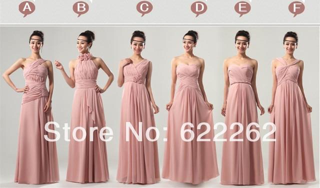 Vestidos dama de honor rosa