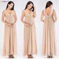 Ever Pretty Pregnant Evening Dresses Long Sexy V Neck Empire Waist Formal Gowns Blush Abendkleider 2018 Hot Sale Robe De Soiree