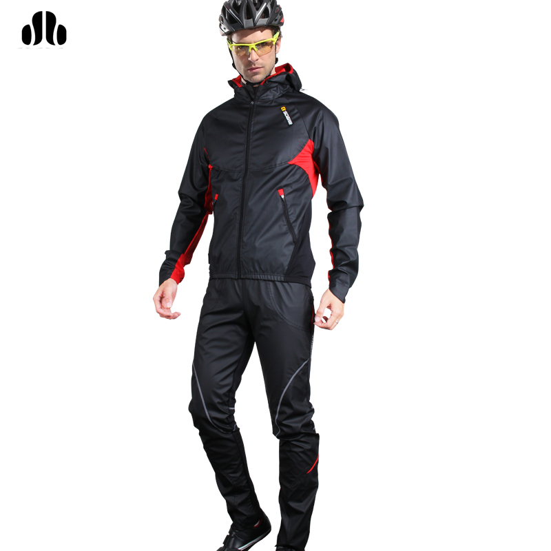 Lance Sobike Winter Cycling Jacket Set Thermal Warm Man Sport Windproof Cycling Bike Bicycle Breathable Jersey Wind Tight Pants lance