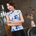 2016 Sale Chinese Clothing Store Chinese Dress 2017 New Jacquard Collar Improved Cheongsam Dress Girl Slim Short Sleeved Summer