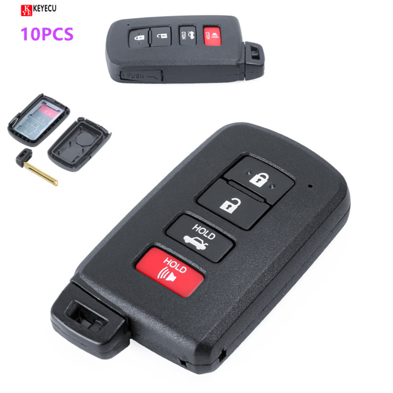 6B Replacement Smart Prox Remote Key Shell Case Fob for Toyota Sienna 2011-2017