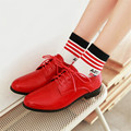 Plus Size 34-50 New Spring Autumn Flats Roman Oxford Shoes British style Women Flats Fashion Woman Preppy Lace Up Casual Shoes