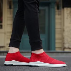 Image 4 - Krasovki männer Atmungs Slipony Sapato Männlichen Schuhe Erwachsene Mesh Tenis Beiläufige Schuhe Chaussures Hommes Zapatos Hombre Herenschoenen