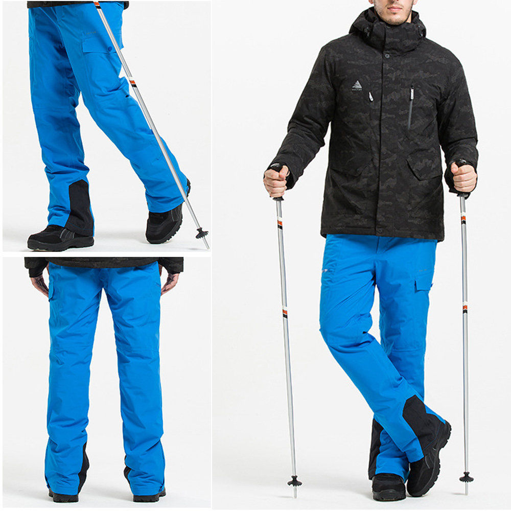 TENNEIGHT Winter Ski Pants Men thick Warm Waterproof Outdoor Sports Skiing Snowboard pants Snow Trousers Detachable Suspenders