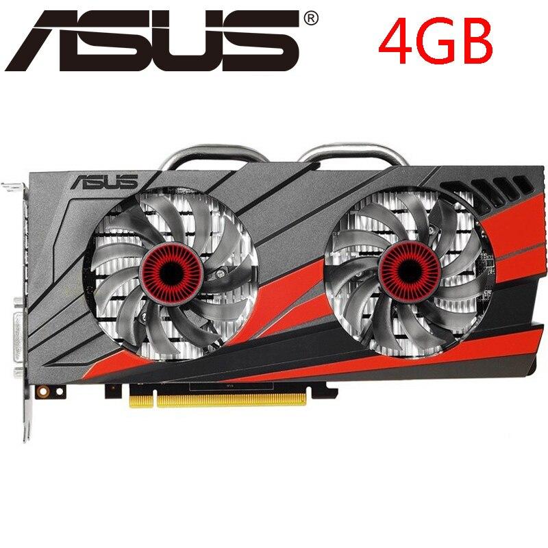 Видеокарта ASUS GTX 960 4 Гб 750 бит GDDR5, графические карты для nVIDIA VGA карты Geforce GTX960 HDMI GTX 950 Ti 1050 1060, б/у