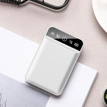 10000 mAh Dual USB mini Powerbank przenośna ładowarka 10000 mAh 18650 baterie Pack dla Xiaomi bateria ucha zewnętrznego Powerbank bilans energii do banku tanie tanio Awaryjne przenośne 9001-10000 mAh 18650 Bateria Litowa Podwójny USB ZŁĄCZE micro USB 5 V 2 1A Rohs Dwukierunkowa Szybkie Ładowanie