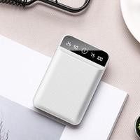 10000 mah 듀얼 usb 미니 전원 은행 휴대용 충전기 10000 mah 18650 bateries 팩 xiaomi bateria externa powerbank pover 은행