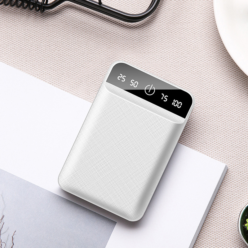 10000mAh Dual USB Mini Power Bank Portable Charger <font><b>10000</b></font> <font><b>mAh</b></font> 18650 Bateries <font><b>Pack</b></font> For Xiaomi bateria externa Powerbank Pover bank image