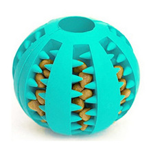 1PC Rubber Pet Dog Cat Toy Ball Chew Treat Holder Tooth Cleaning Food Puppy Training Interactive Supplies
