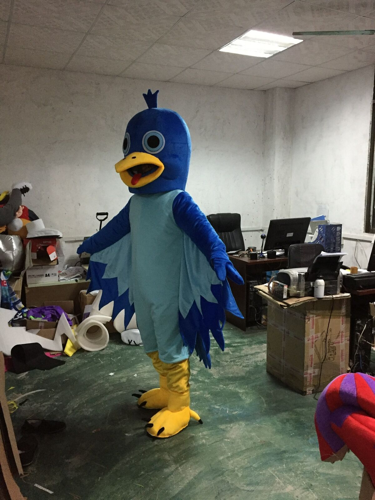Aigle mascotte Costume costumes Cosplay partie jeu robe tenues vêtements publicité carnaval Halloween noël pâques Festival adultes - 2