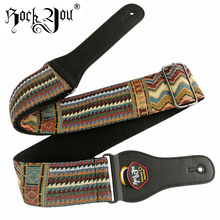 Rock You Electric Bass Guitar Straps dengan Cute Little Bear Design Aksesori Gitar Klasik Bohemia gaya 6.2 cm lebar