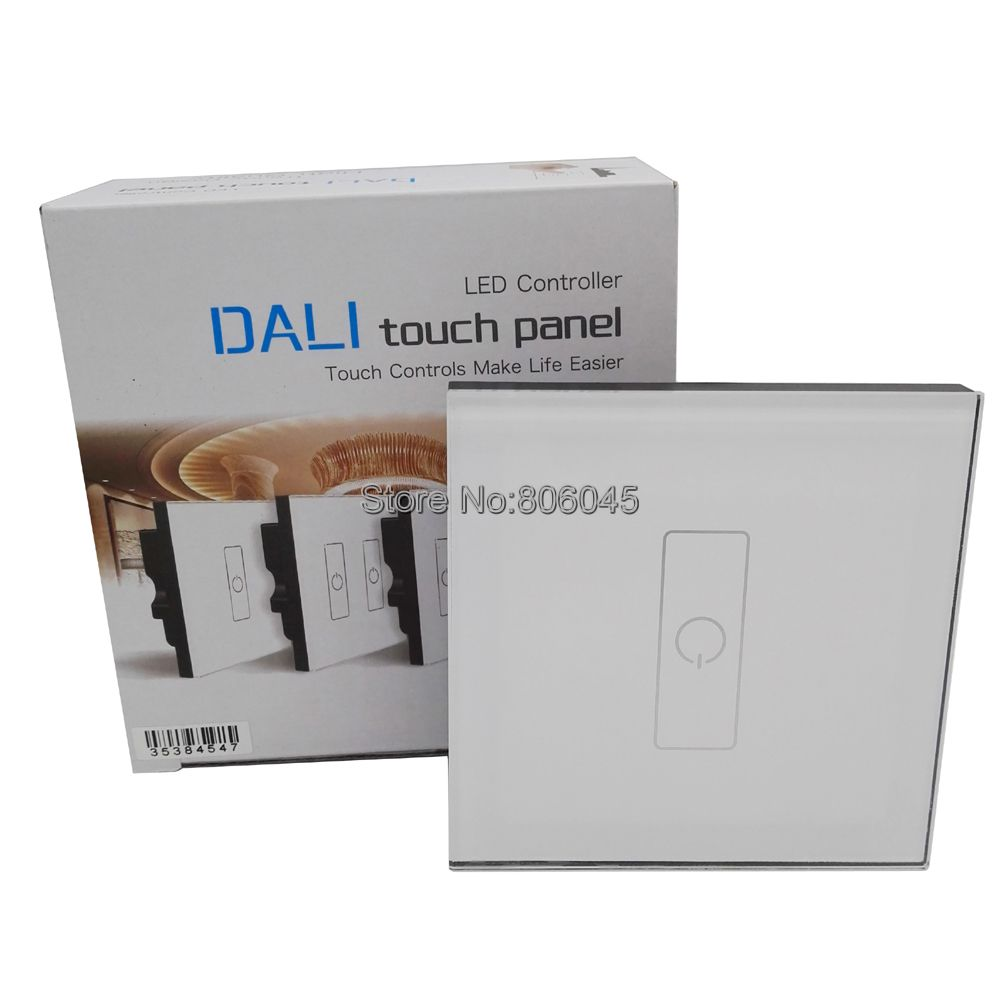 LTECH DA1 Touch Panel 1 Road On/Off Touch Dimmer DALI Series Touch Panel Controller for LED Light Wall Mount Control 110V / 220V ltech da6 wall mount knob panel dali dimmer controller on off switch 64 single address 16 group address and broadcast address