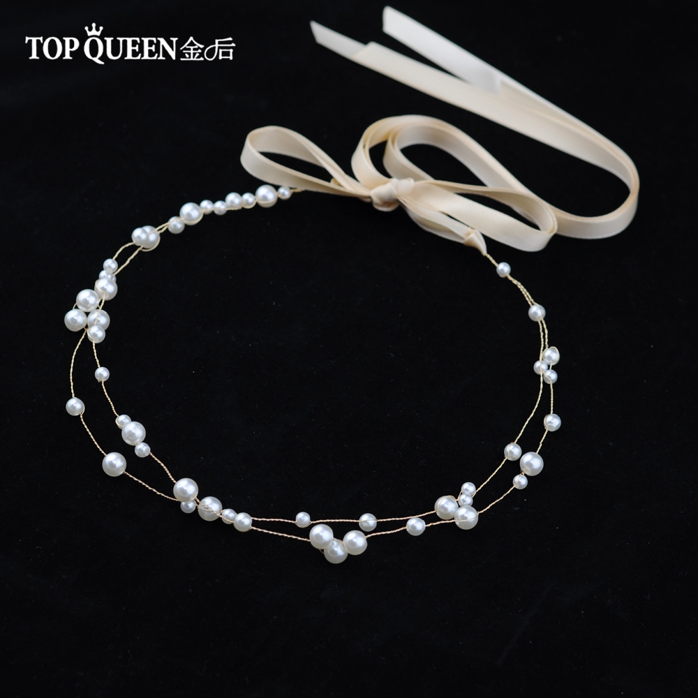 TOPQUEEN HP36 Wedding Tiara Bridal Headband Wedding Headwear Wedding Hairband Wedding Hair Accessories Bridal Headwear