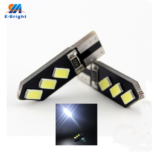 50pcs 12V 1.5W T10 Canbus 5730 6 SMD LED Bulbs Car Instrument Reading Clearance Door Lights White Blue Red Amber Free Shipping