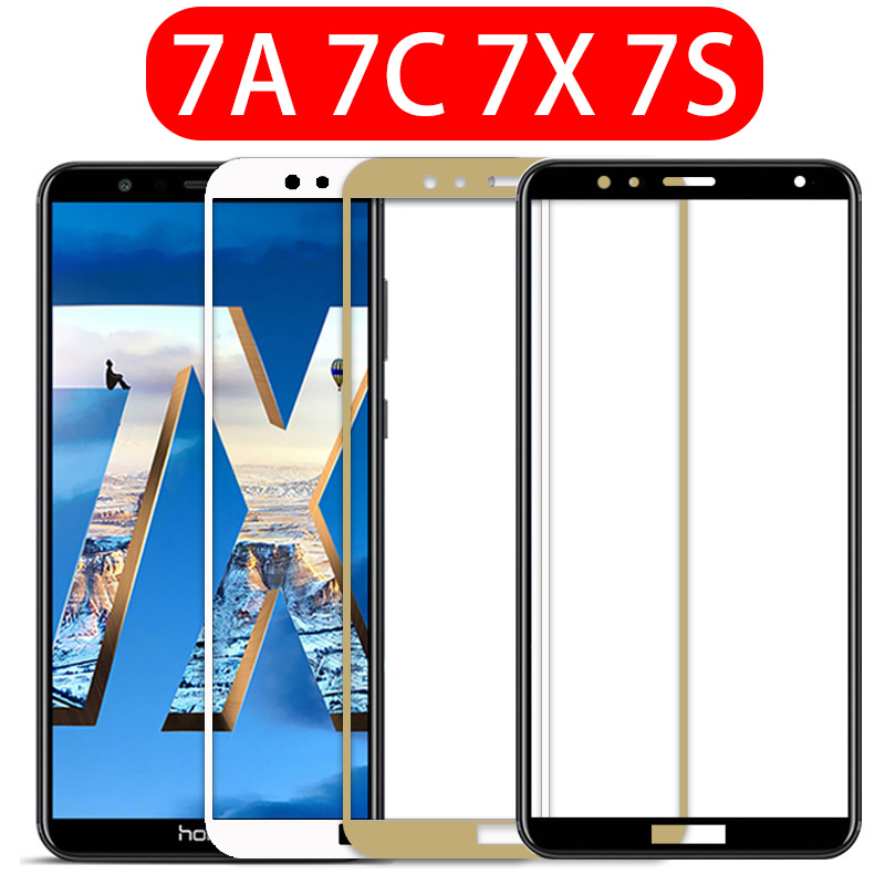 Protective glass on honor 7a tempered glass for huawei 7c 7x 7a 7s pro 7 a c x s screen protector protect phone film safety glas(China)