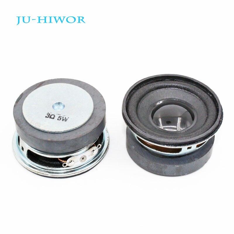 2pcs 3 Ohm 5W 50MM Musical Flowerpot Loudspeaker 45mm External Magnetic Speaker Foam Edge Black Bright Cap Height 25mm