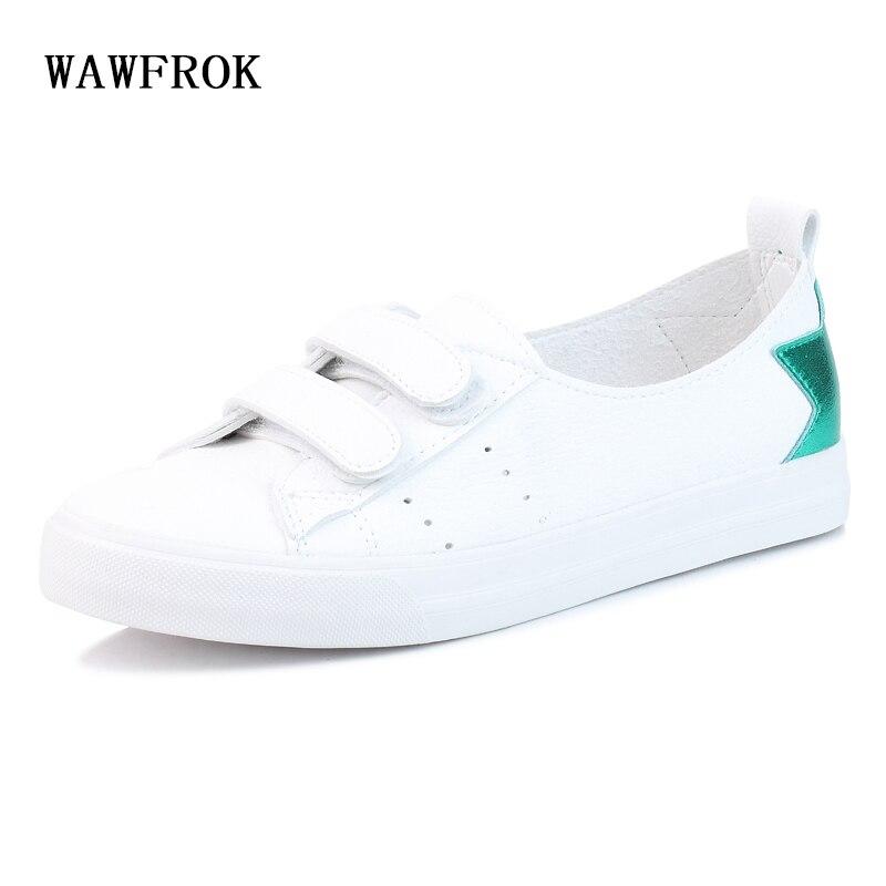 WAWFROK Women Casual Shoes Summer 2018 Spring Vulcanization Flats Shoes Woman Fashion Breathable Women Sneakers