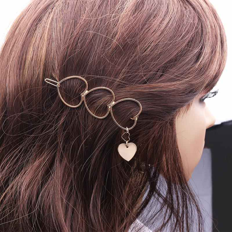 Accessoires de cheveux de mariée de mariage pour femmes tiare coiffure pince tête bijoux géométrique coeur rond épingles à cheveux Barrettes bandeau