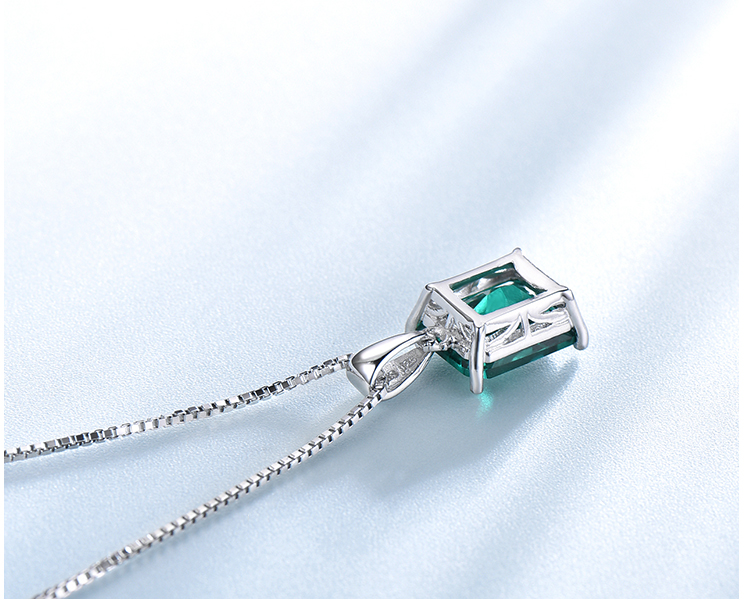 Honyy ?Emerald   925 sterling silver necklace for women NUJ056E-1-app (5)