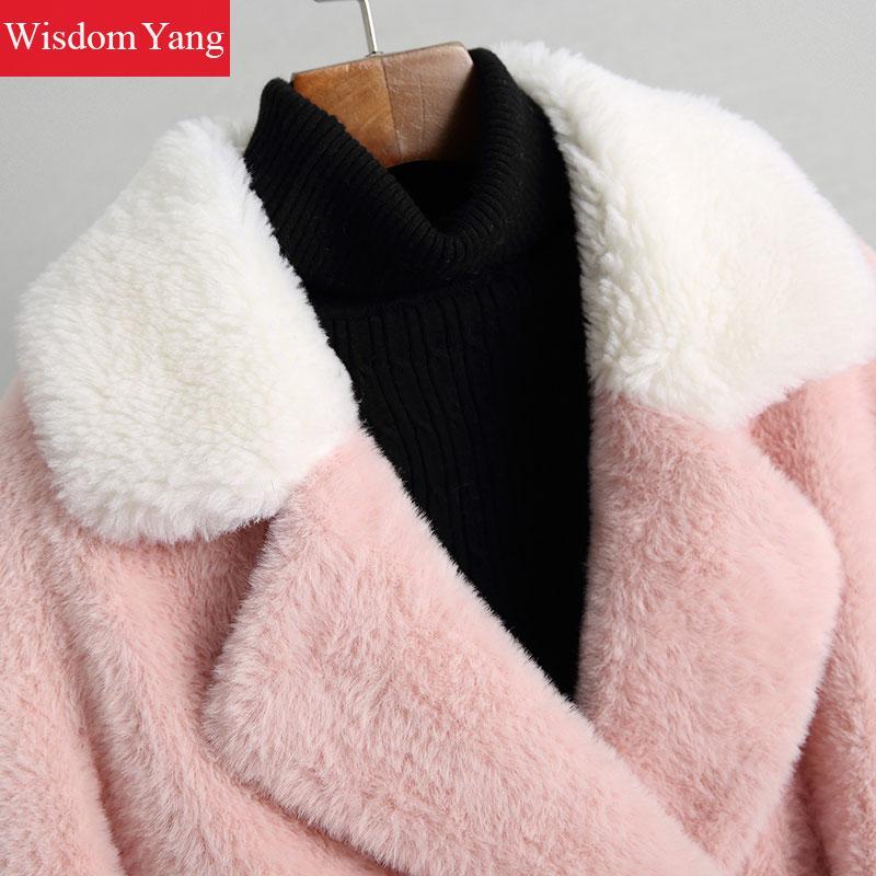 De Manteaux Bleu Pardessus Rose Pink Épais Femmes Hiver rCdBQoeExW