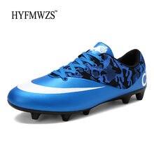 HYFMWZS Superfly hombres Krasovki niños botas de fútbol Original  antideslizante Crampon picos largos césped al aire libre fútbol 68bc13b321f51