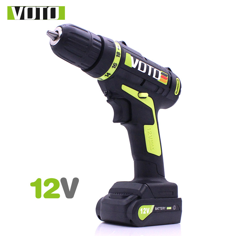 VOTO 12V DC New Design Household Lithium Ion Battery Cordless Drill Driver-Power Tools Electric Drill Power Drill free shipping 48v 15ah battery pack lithium ion motor bike electric 48v scooters with 30a bms 2a charger