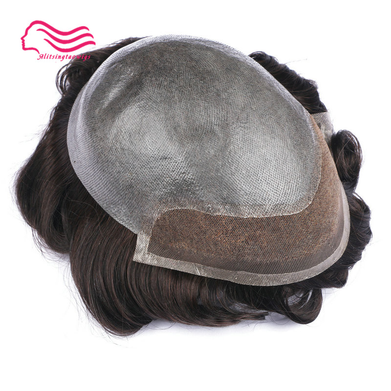 Anteriore del merletto parrucchino, parrucca di capelli, capelli di remy dei capelli 8X10 dimensione Capelli Prosthesise rimontaggio di Trasporto trasporto libero, tsingtaowigs