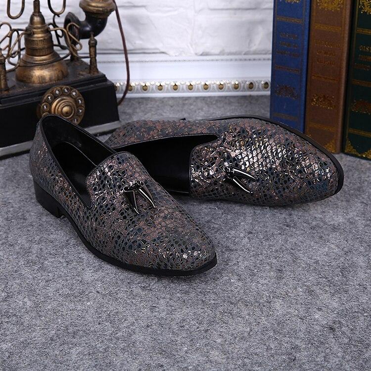 prix le plus bas sortie d'usine prix plus bas avec € 82.8 50% de réduction|Approvisionnement d'usine pas cher sans lacet  hommes mocassins chaussures bout rond fissure chaussures plates avec charme  ...