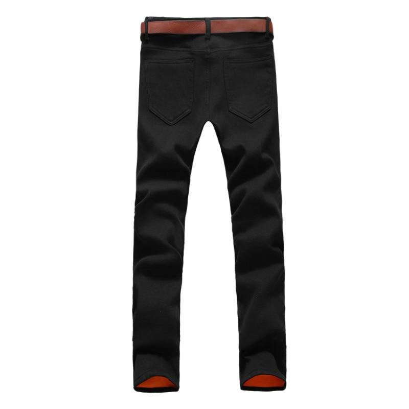 2019 autumn Winter New Men's Warm Jeans Golden velvet Casual Elasticity Thick Slim Denim Pants Brand Trousers Plus Size Trousers