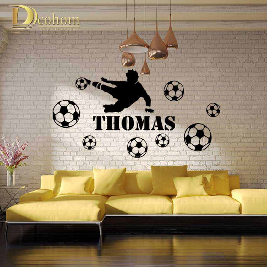 Cool Thomas Football Player Balls DIY Wall Sticker Vinyl Home Decor For Kids Room Bedroom Fashion Wall Decals Art Mural Sticker