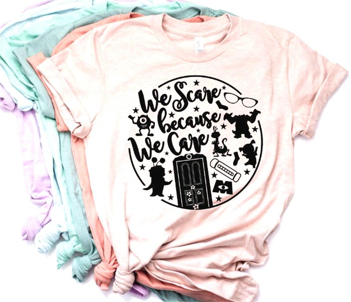 2019 Women We Scare Because We Care T-shirt Monsters Inc Shirt Monsters University Family Shirt Monsters Team Shirt