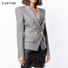 High Quality 2019 New Blazer Women Double Breasted Slim  Office Suit coat Spring autumn Long Sleeve Jacket Female S-2XL