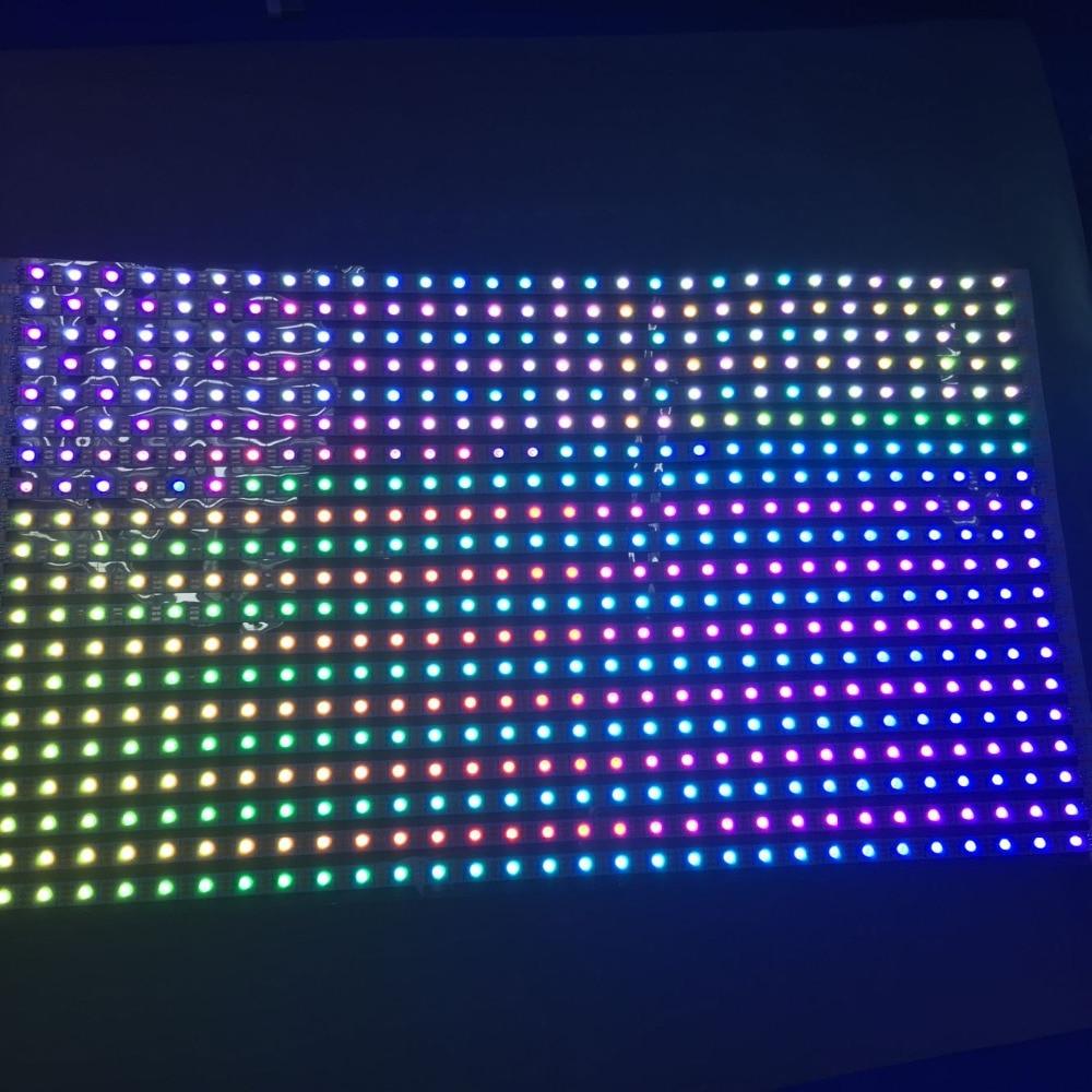 ФОТО DC5V 30*20 pixels RGB full color WS2812B Flexible LED Pixel Panel Light;size:50cm*30cm