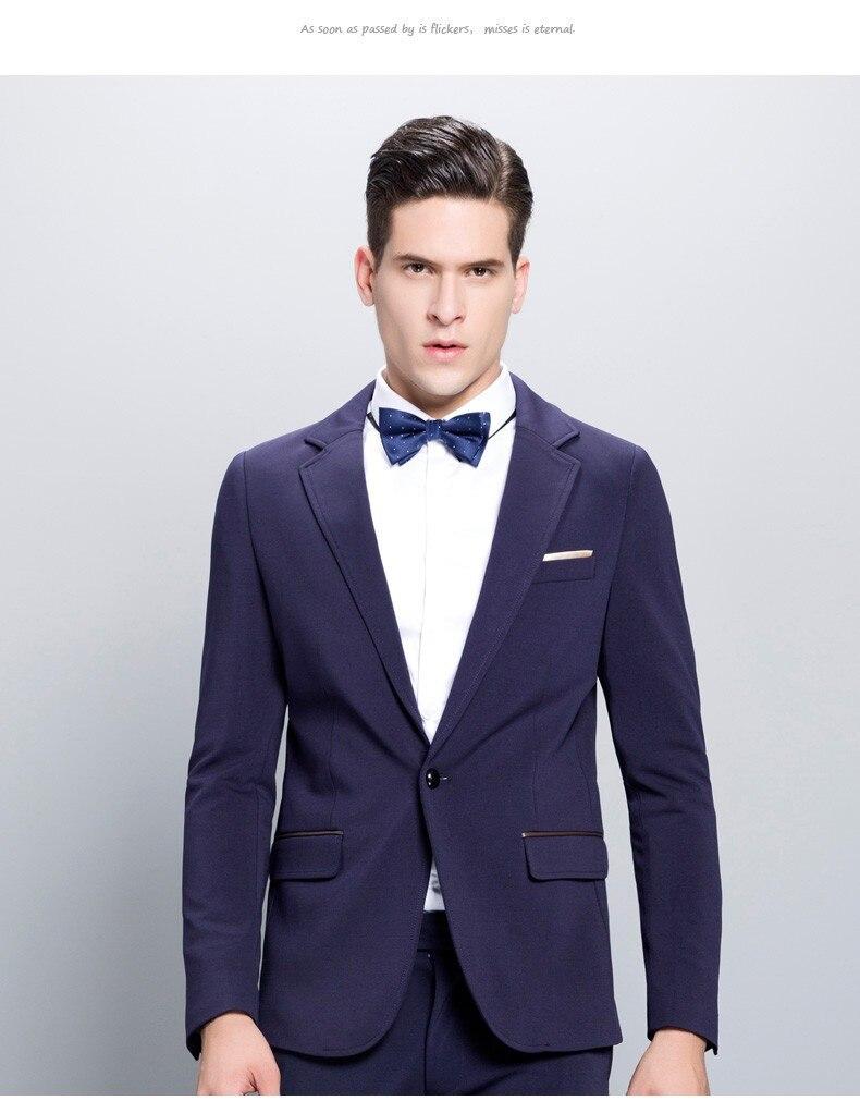 Parti Veste Pour Nouvelle Masculino Blazer Pantalon Arrivée Mode veste Smoking Bleu 2017 Custom Marié Made De Mens Hommes Costumes wBxgd7Iq