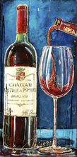 Full round Diamond 5D DIY  Painting Romantic red wine 3D Embroidery Cross Stitch Mosaic Decor