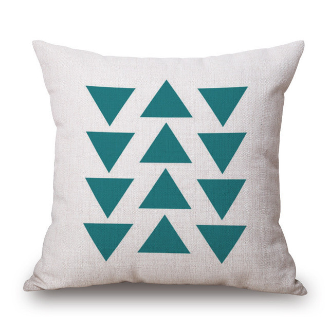 Nordic Style Geometric Patterned Cushion Cover