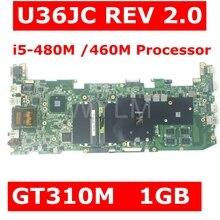 U36JC I5-480M/460 м Процессор GT310M 1 ГБ N11M-GE2-S-B1 материнская плата версия 2,0 для ASUS U36JC U36J U36 Материнская плата ноутбука Тесты 100% ОК