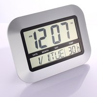 Digital Wall Clock With Indoor And Outdoor Temperature Free Shipping NG4S