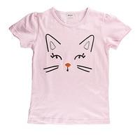 Summer Girls T Shirt Short Sleeve Cotton Striped Kids T Shirt for Girls Lovely Children's Clothes for Baby 18M-6T