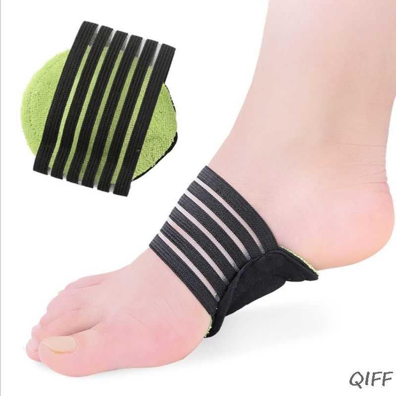 1 ペア太いクッションアーチサポートブレース足底筋膜炎フラット足の痛みを軽減ストラップ矯正圧縮サポートインソール