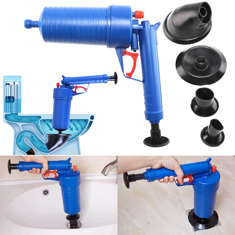 Air Pump Drain Blaster Sink Plunger Bath Toilet Blockage