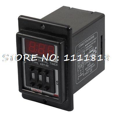 AC/DC 12V 8 Pin DPDT 0.1-99.9 Second 99.9s Time Delay Relay Timer Black ASY-3D free shipping js14p 1 99s second dpdt 2no 2nc programmable time delay relay ac 220v