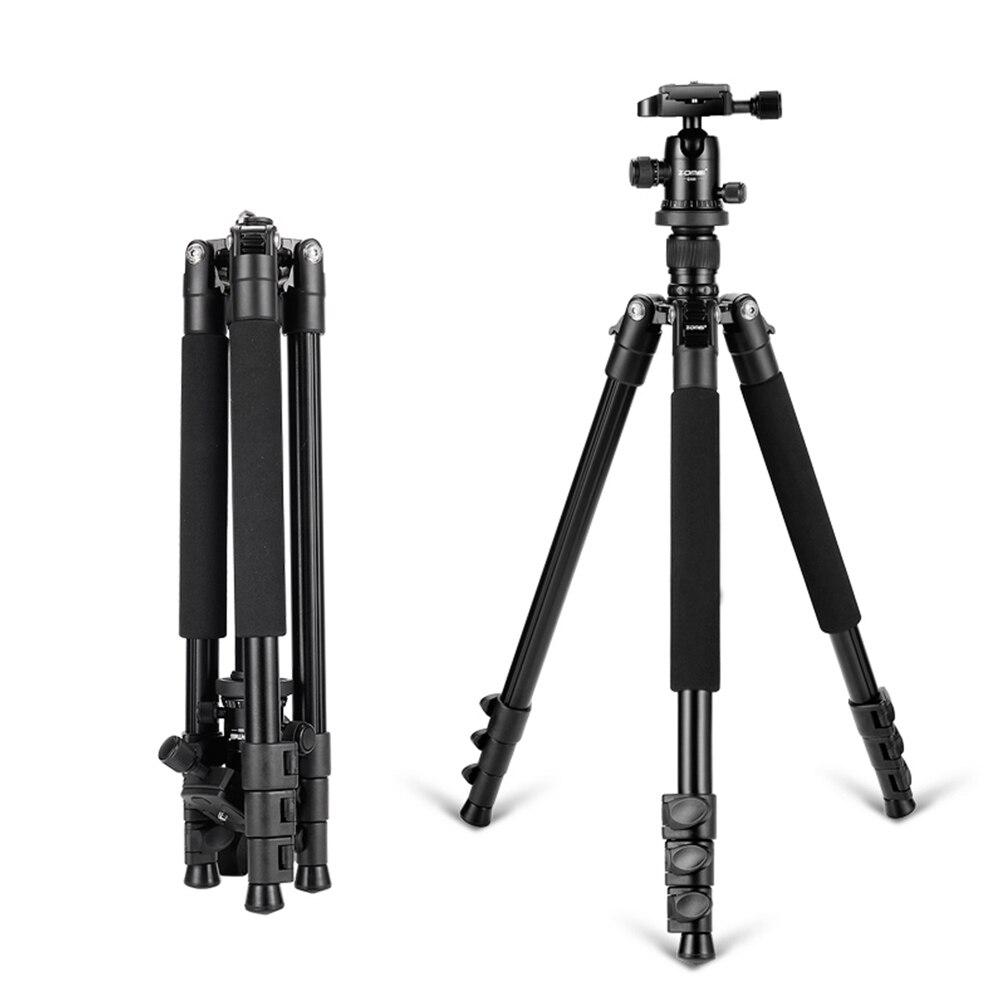 Zomei Q555 trépied professionnel en aluminium Flexible photographique Portable trépied support d'appareil-photo avec tête panoramique pour reflex numérique Camer